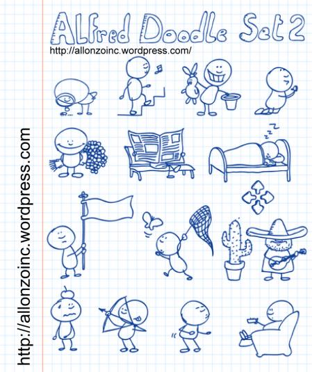 Alfred_Doodle_Set2