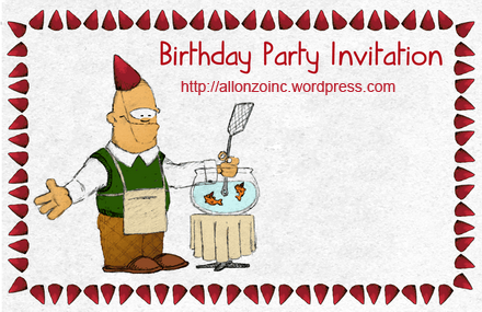 Birtday Party Invitation Card 1