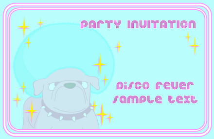 Party Invitation Disco Poodle 2-2