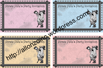 Pirate Pete's Party Invitation2 Combined