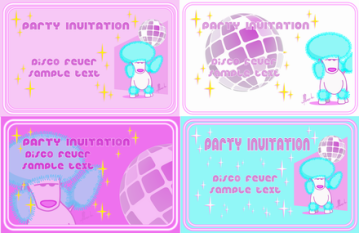 Resize of Party Invitation Disco Poodle combined