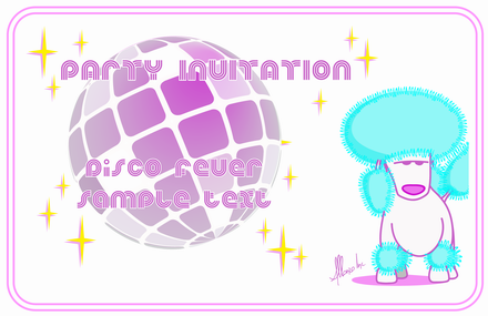 Resize of Party Invitation Disco Poodle2