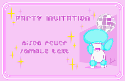 Resize of Party Invitation Disco Poodle