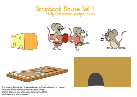 Scrapbook Mouse Set 1 by Allonzo Inc