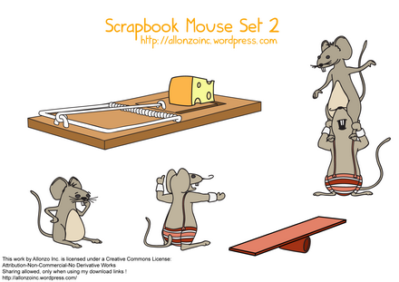 Scrapbook Mouse Set 2 by Allonzo Inc