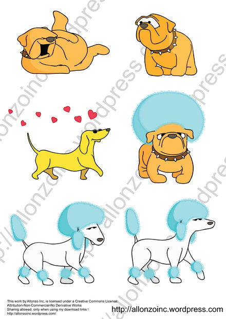 Funny Dogs Collection by Allonzo Inc