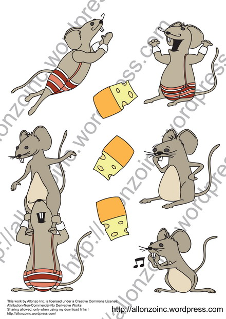 Funny Mouse Collection by Allonzo Inc