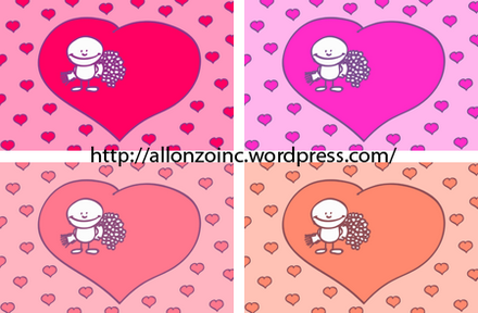 Romantic Doodle Card Combined
