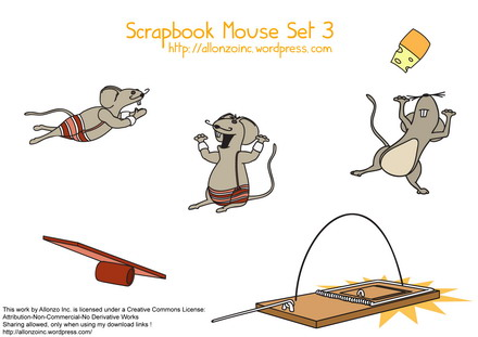 Scrapbook Mouse Set 3 by Allonzo Inc