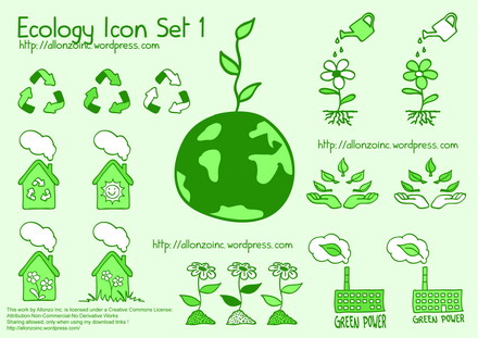 Vector Ecology Icon Set 1 by Allonzo Inc