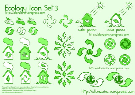 Vector Ecology Icon Set 3 by Allonzo Inc