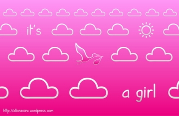 It's a Girl Background 1