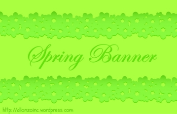 Vector Spring Floral Banner