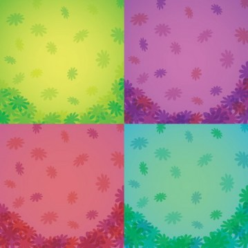combined Vector Flower Background 4