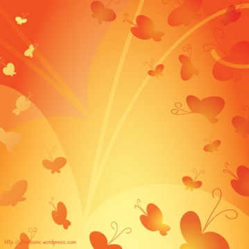 Vector - Abstract Butterfly Background 2