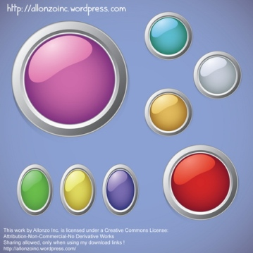 Vector - Colorful Buttons by Allonzo Inc