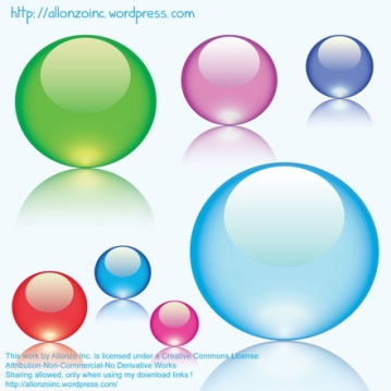 Vector - Colorful Glass Marbles by Allonzo Inc