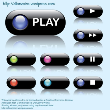 Vector - Colorful Web Buttons by Allonzo Inc