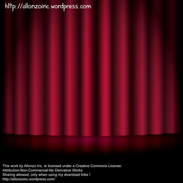 Vector - Red Curtain Background by Allonzo Inc 4