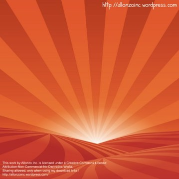 Vector Sunset Background by Allonzo Inc Designs