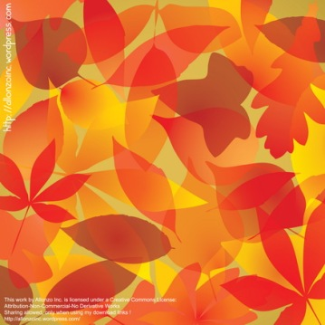 Vector - Autumn Leaves Background by Allonzo Inc