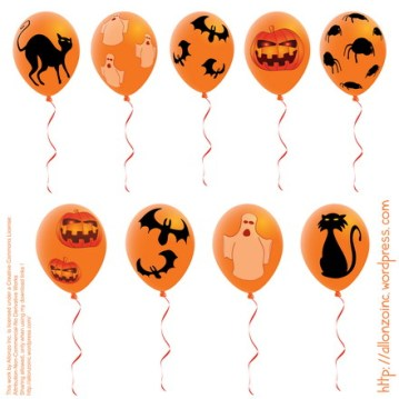 Vector Halloween Balloons by Allonzo Inc Designs 2