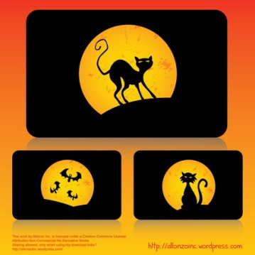 Vector - Halloween Cards Set by Allonzo Inc Designs