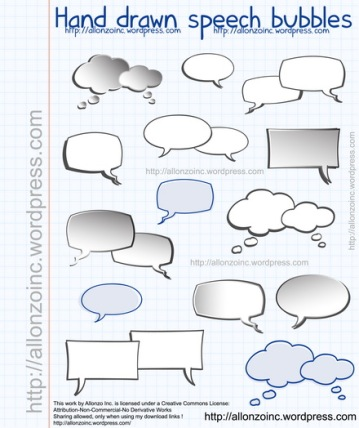 Vector - Hand drawn speech bubbles by Allonzo Inc