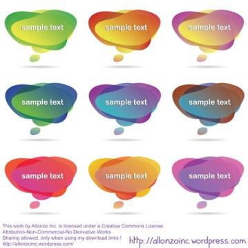 Vector - Speech Bubbles by Allonzo Inc