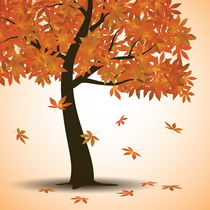 Vector - Autumn Tree Background by Allonzo Inc Designs3