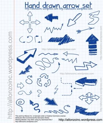 Vector - Hand drawn arrow set by Allonzo Inc