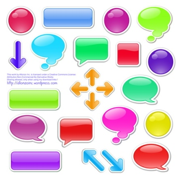 Vector - Speech Bubbles Set 3 by Allonzo Inc Designs-01