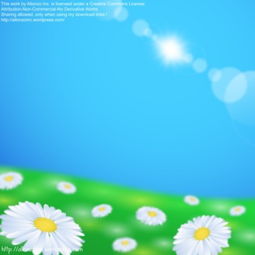 Vector -  Vector - Daisy Flowers Background by Allonzo Inc Designs
