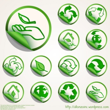 Vector - Ecology Sticker Set by Allonzo Inc Designs