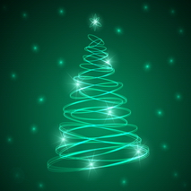 Vector - Abstract Christmas Tree  Background 2 by Allonzo Inc-07