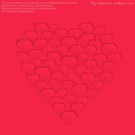 Vector - Valentine Heart Card 2 by Allonzo Inc Designs