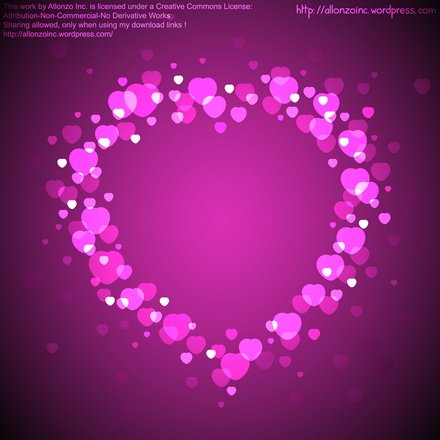 Vector - Valentine Heart Card 3 by Allonzo Inc Designs