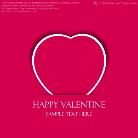 Vector - Valentine Heart Card by Allonzo Inc Designs