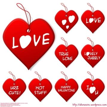 Vector - Valentine Heart Set by Allonzo Inc Designs